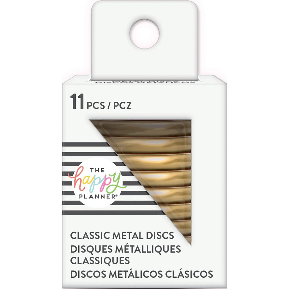 Happy Planner Medium Classic Metal Discs Gold 1.25