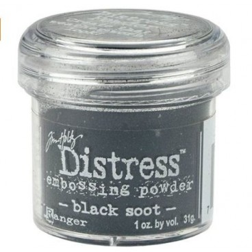 Black Soot  Distress embossing powder Tim Holtz