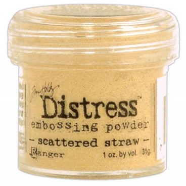Scattered Straw Distress embossing powder Tim Holtz