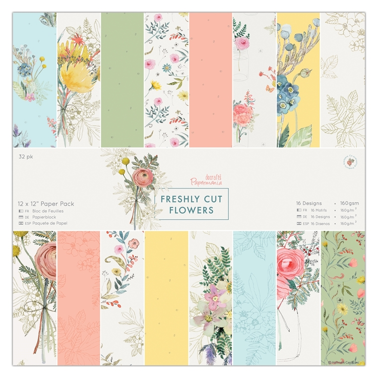 Freshly Cut Flowers Paper Pad
