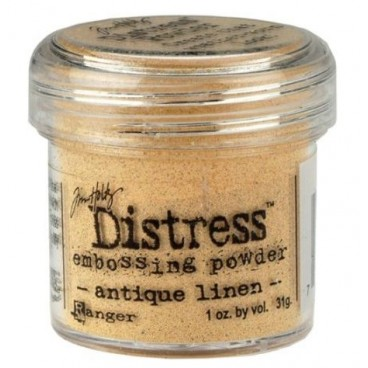 Antique Linen Distress embossing powder Tim Holtz