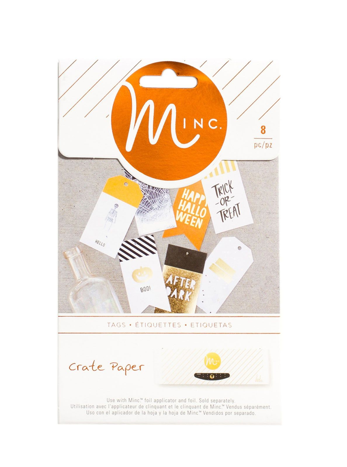 American crafts after dark Minc tags