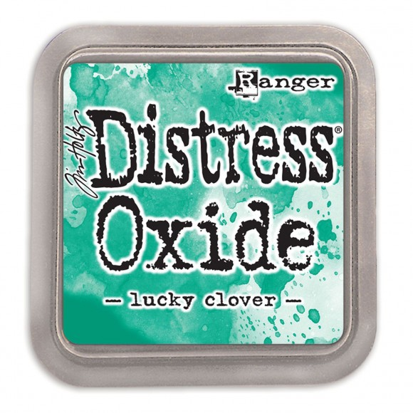 Tim Holtz distress oxide lucky clover