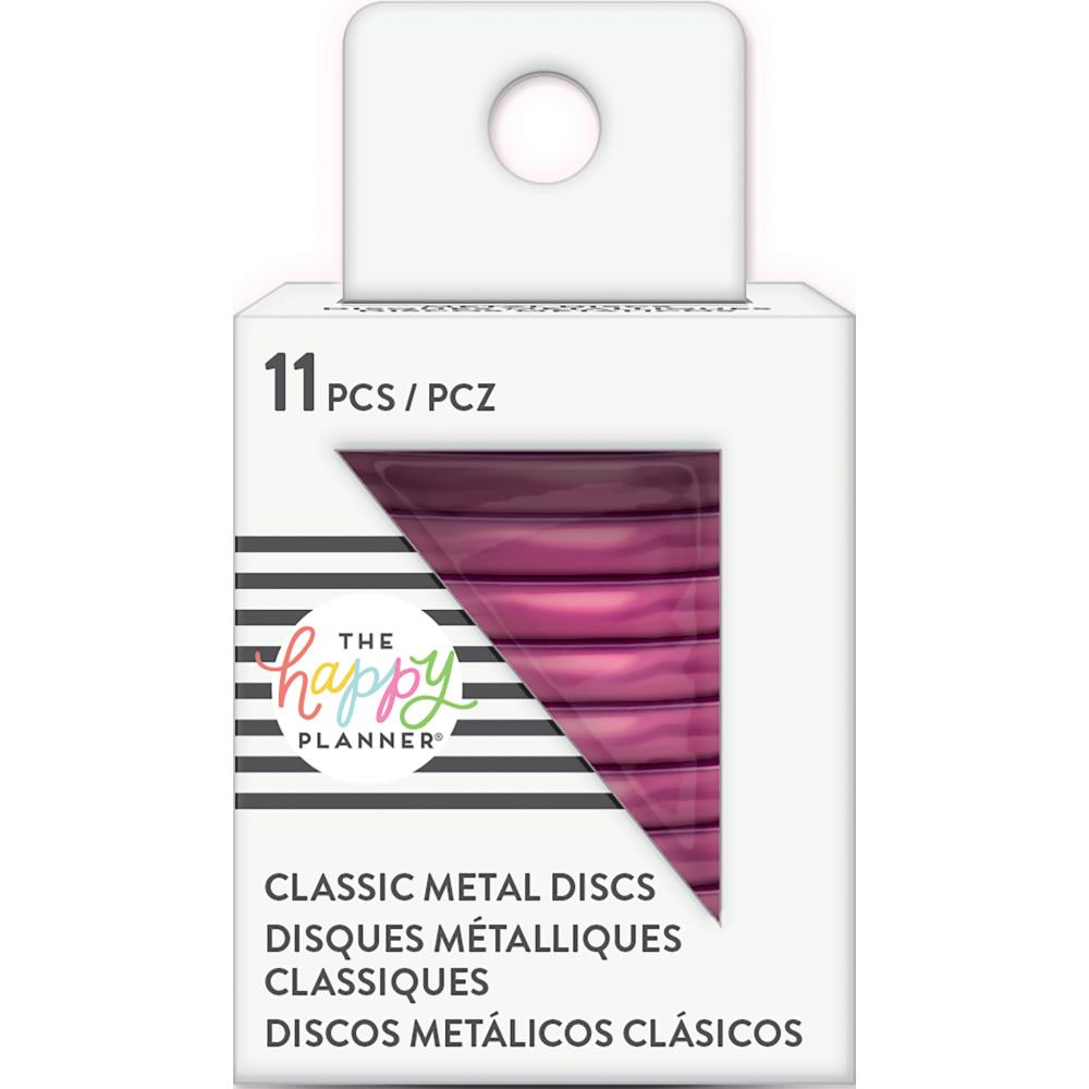 Planner Medium Classic Metal Discs Hot Pink 1.25