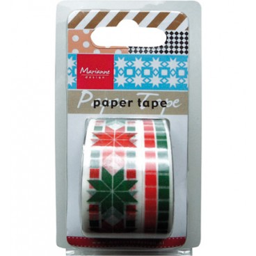 Paper tape Chrismas red / green