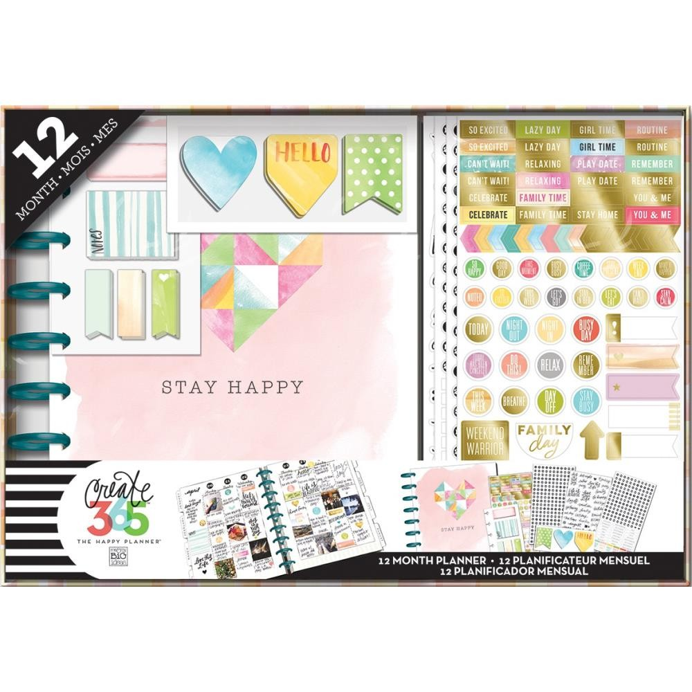 The Happy Planner - Stay Happy - 12 Month undated kit -  Classic -