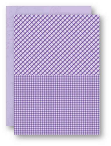 Doublesided background sheets A4 purple squares