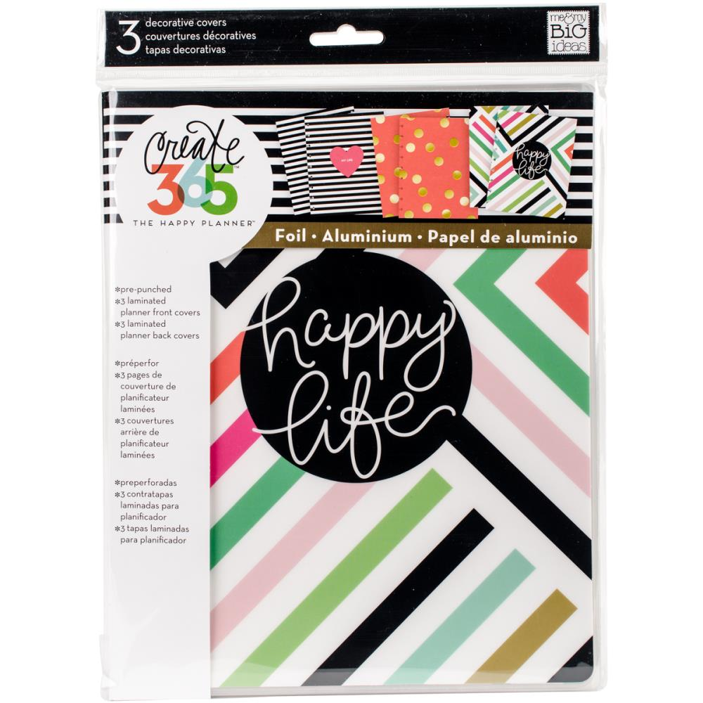 The Happy Planner - Classic Planner Covers - Happy Life - (6pcs)