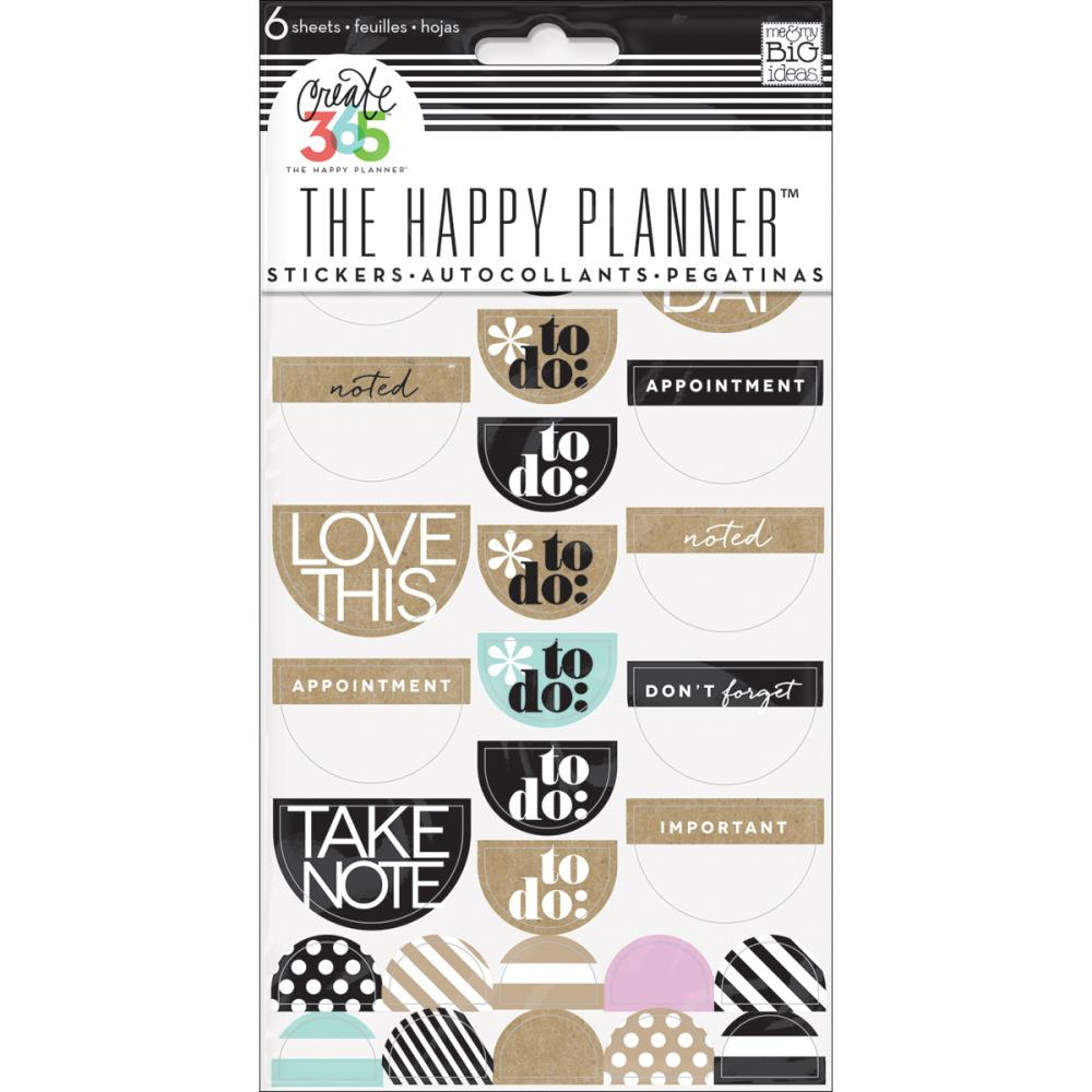 The Happy Planner - Stickerpack - To Do, Neutral - (6sheets)