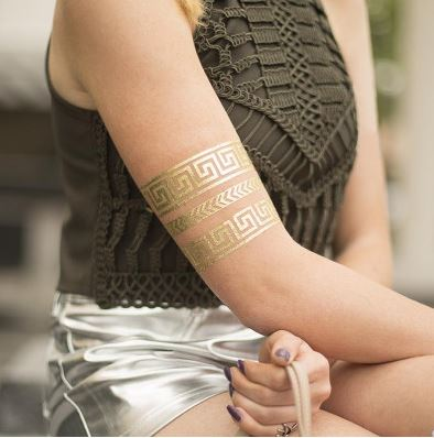 Printable tatto paper gold