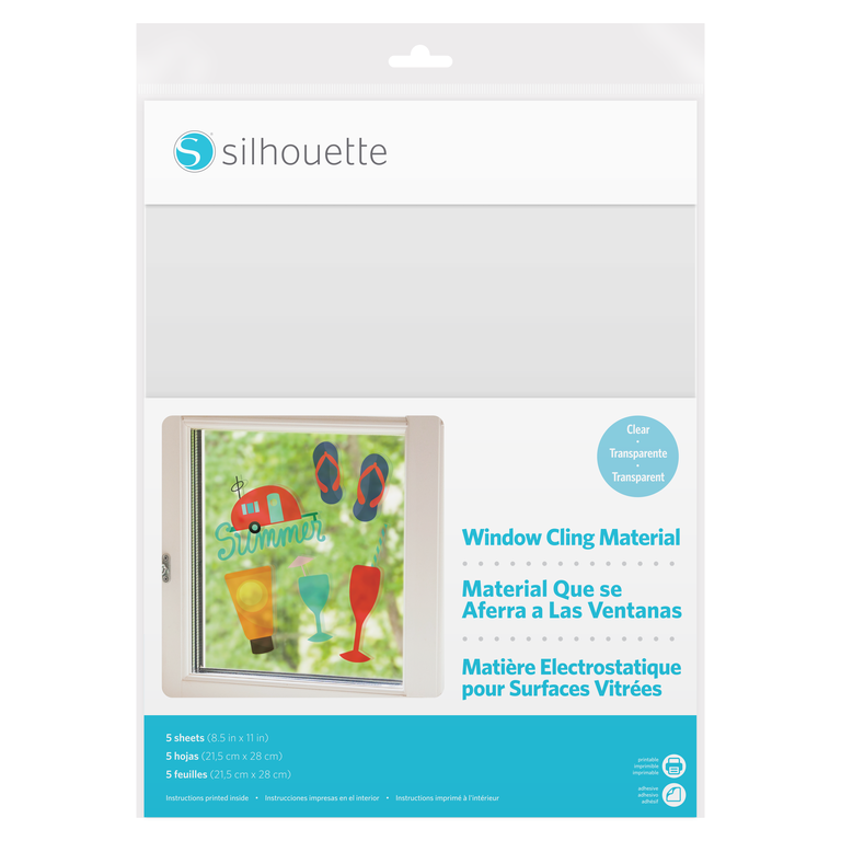 Silhouette Printable Window Cling Material - Clear