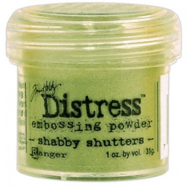 Shabby Shutters  Distress embossing powder Tim Holtz