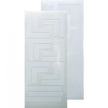 Lace/kant corner sticker White