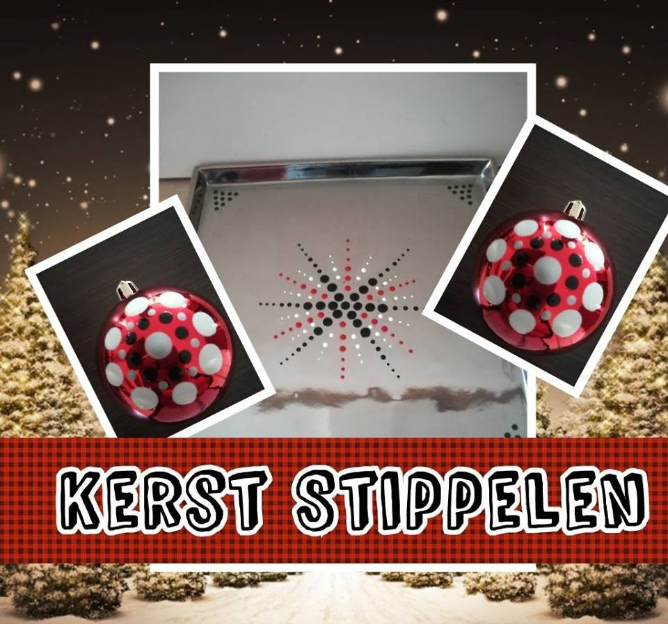 Workshop Stippelen in kerstsfeer