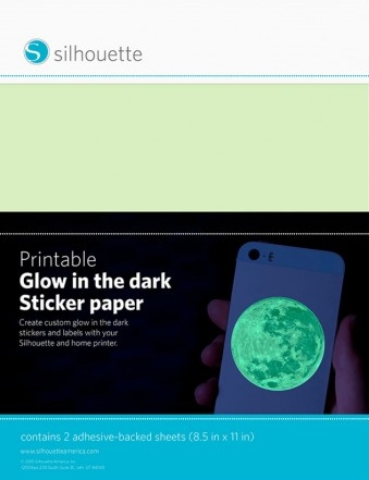 Silhouette Printable Glow in the dark sticker paper