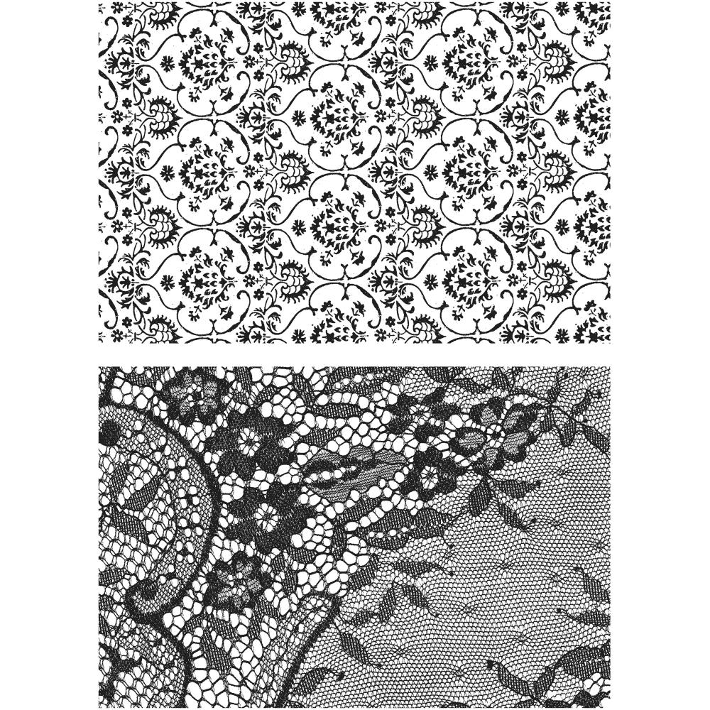 Tim Holtz - Stampers Anonymous - Ornate & Lace - 2pcs