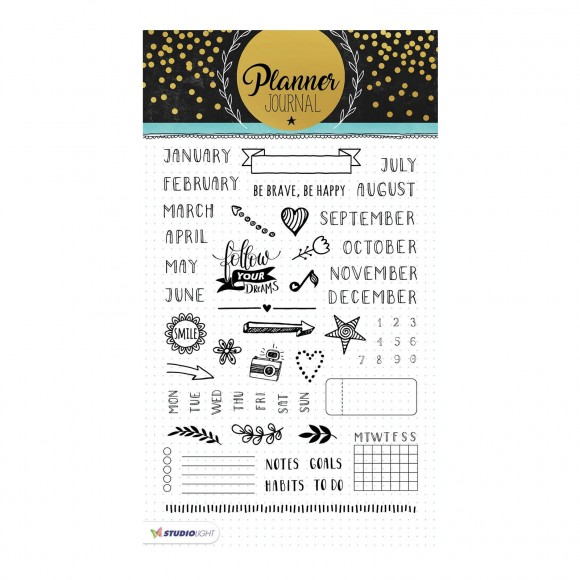 Studio Light - A5 Clearstamp - Planner Journal Nr.02