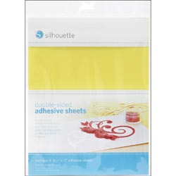 Silhouette Double-Sided Adhesive Sheets.