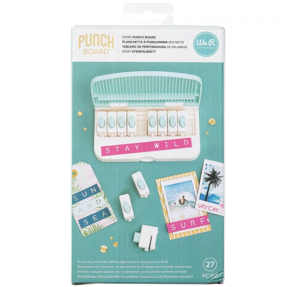 We R Memory Keepers - Word Punch Board - 27 piece