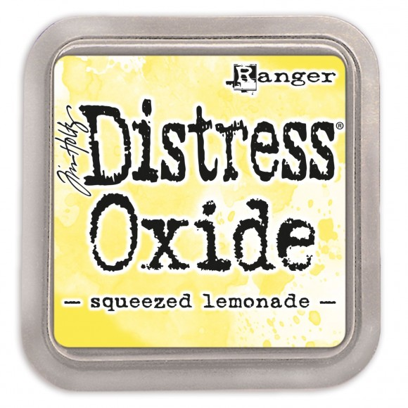 Tim Holtz distress oxide squeezed lemonade