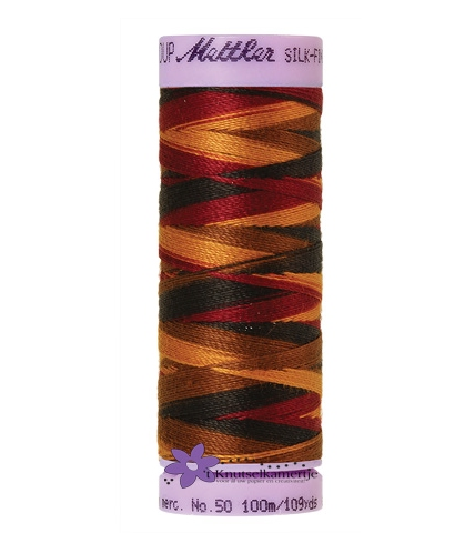 Kleurnr. 9863 Gemeleerd Silk Finish Multi