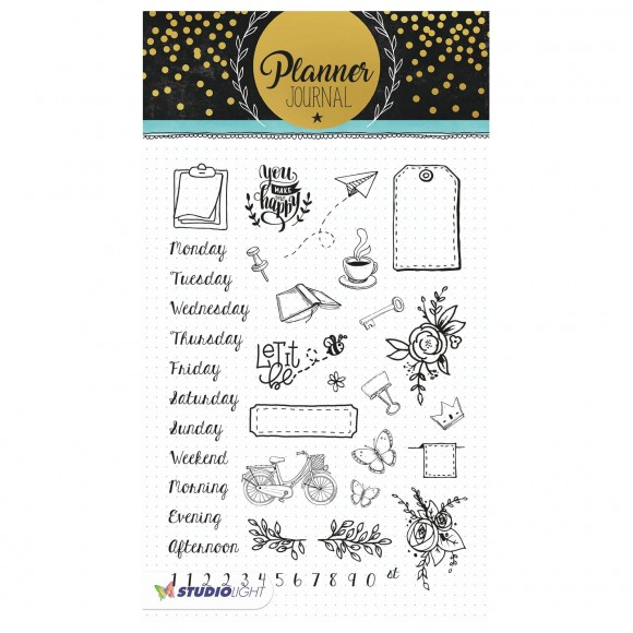 Studio Light - A5 Clearstamp - Planner Journal Nr.05
