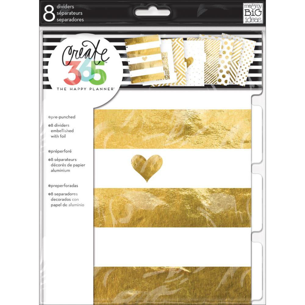 The Happy Planner - Classic Planner - Dividers - Gold - (8pcs)