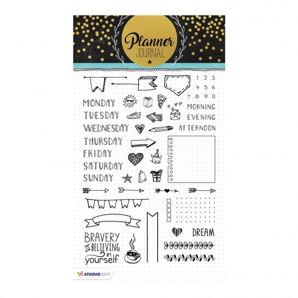 Studio Light - A5 Clearstamp - Planner Journal Nr.01