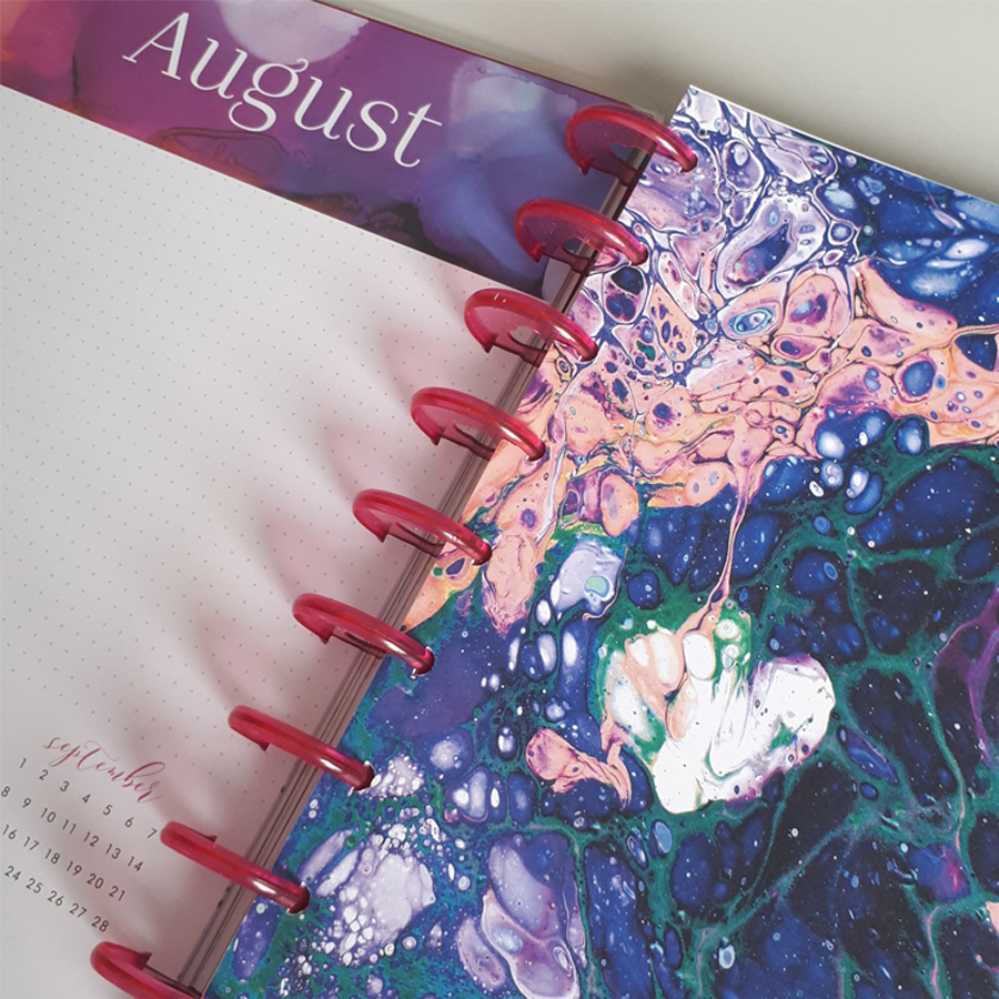 The Happy Planner - Classic Planner -  Blue Paint Splash - 18 Month Dated Planner