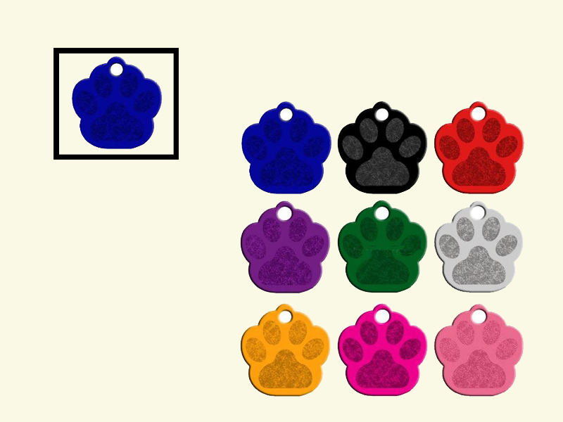 Dog tags Poot Blauw