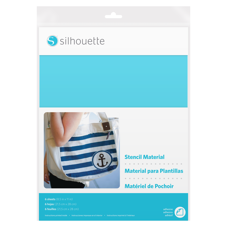 Silhouette Stencil Material Sheets - Adhesive
