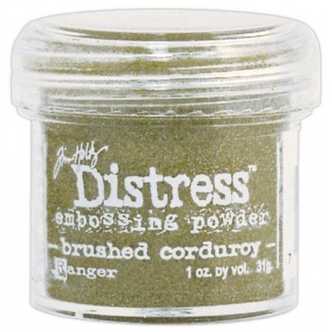 Brushed Corduroy  Distress embossing powder Tim Holtz