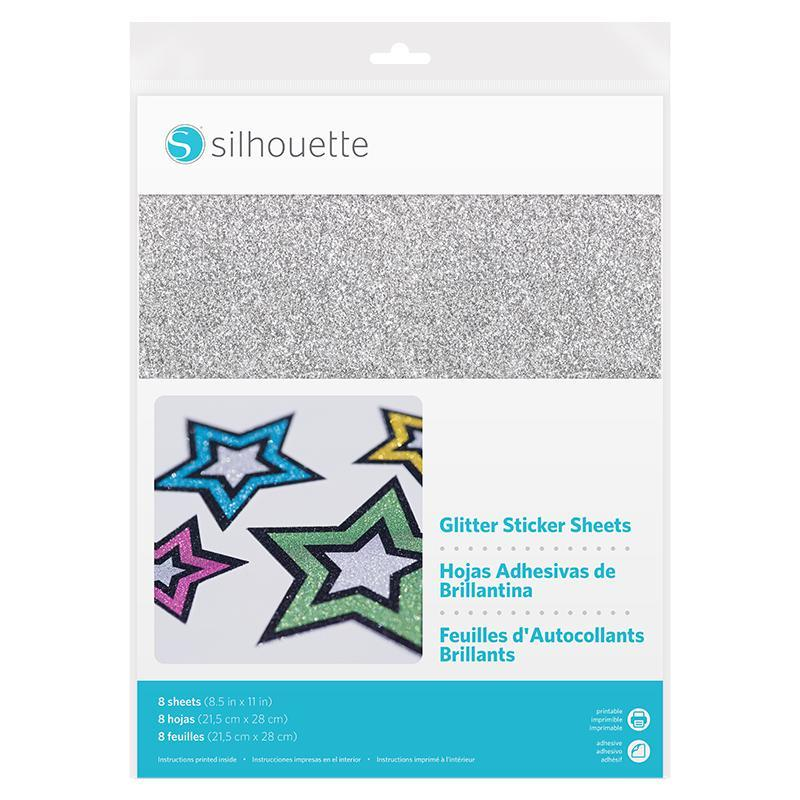Silhouette Glitter Sticker Sheets