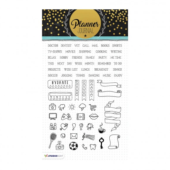 Studio Light - A5 Clearstamp - Planner Journal Nr.04