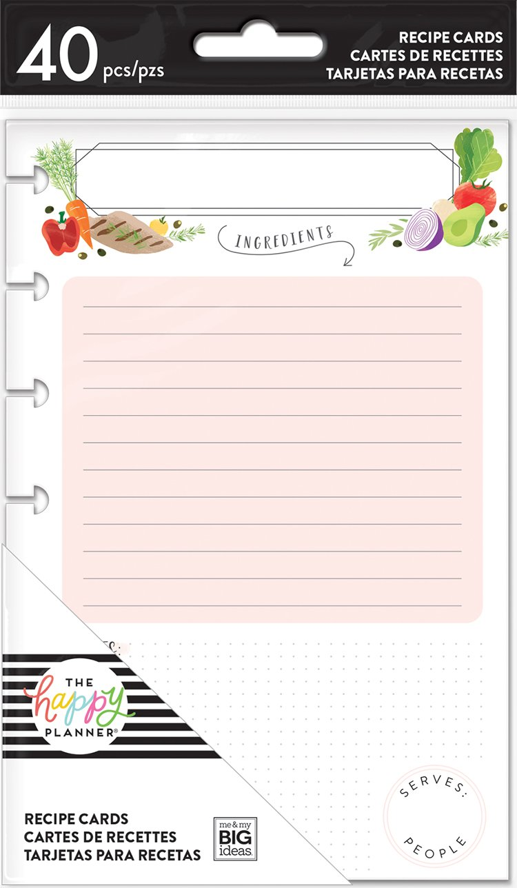 The Happy Planner - Receipe Cards - Double Sided - Mini - 40pcs