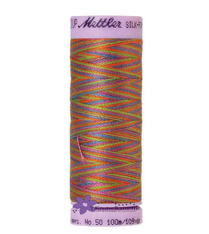 Kleurnr. 9842 Gemeleerd Silk Finish Multi