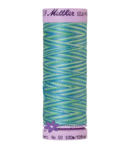 Kleurnr. 9814 Gemeleerd Silk Finish Multi