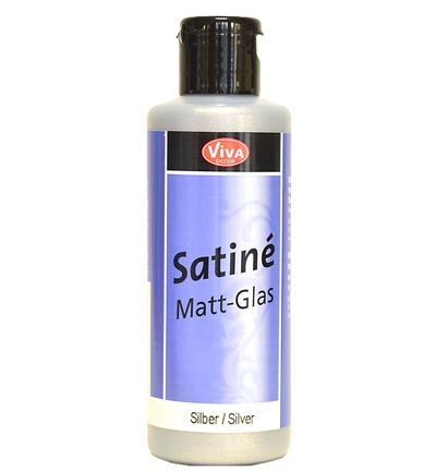 Satine Matt Glass Silver