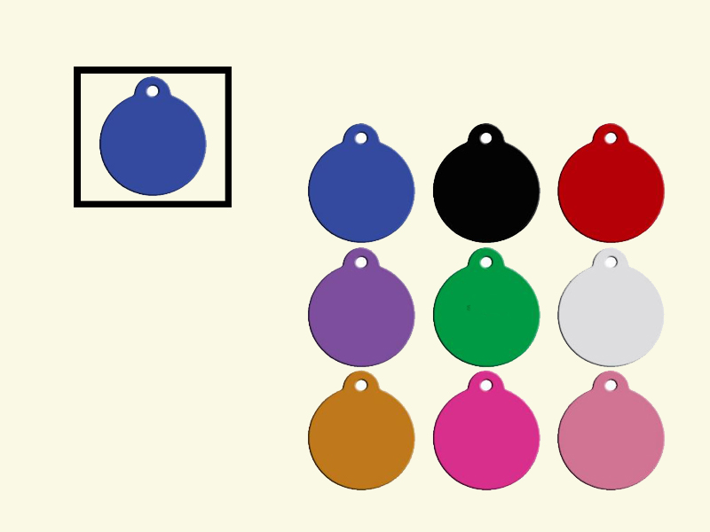 Dog tags Rond Blauw