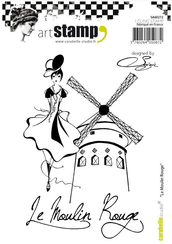 Carabelle cling stamp A6 le moulin rouge by Soizic