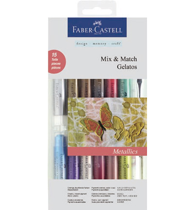 Gelatos Aquarelkrijt Metallic Faber Castell