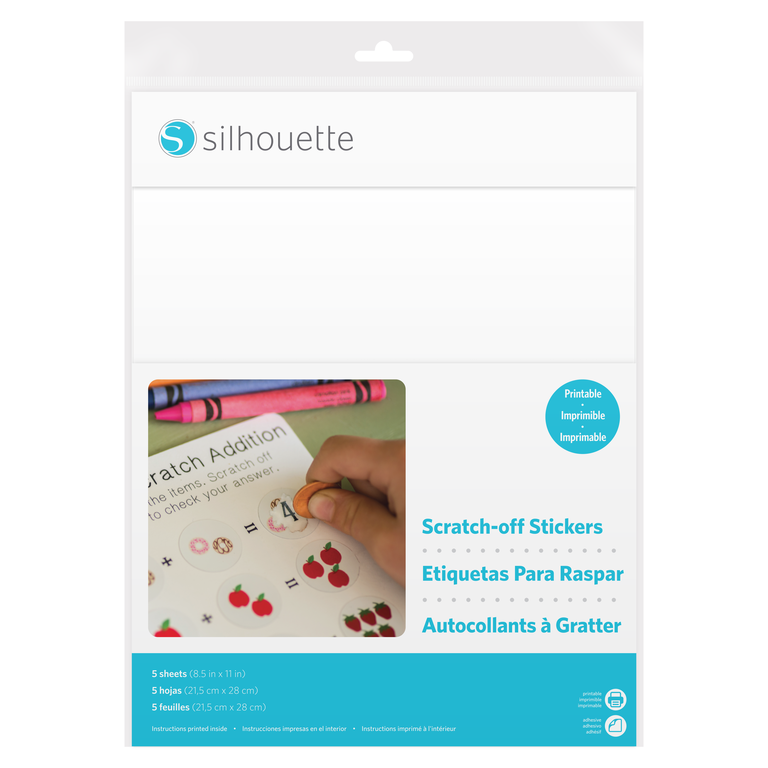 Silhouette Scratch-off Sticker Sheets printable