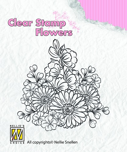Flowers Gerbera's Clearstamps