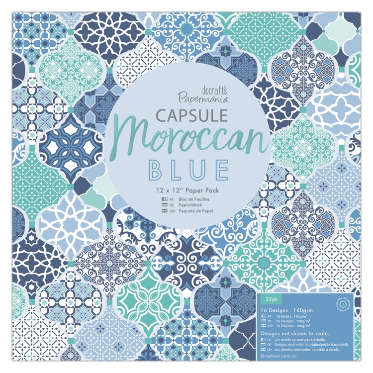 Moroccan Blue Paper Pad