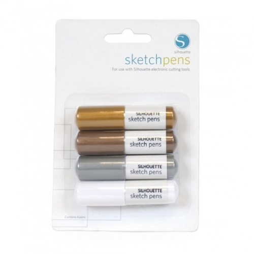 Sketch Pens Metallic 4st.