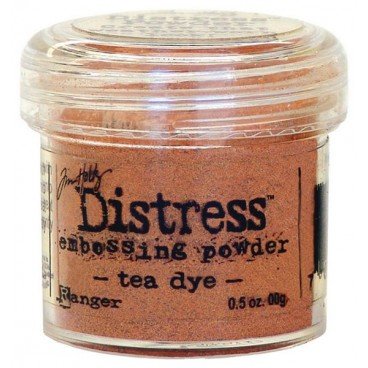 Tea Dye Distress embossing powder Tim Holtz