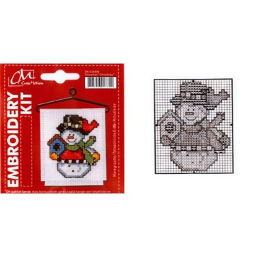 Embroidery Kit  Snowman Christmas